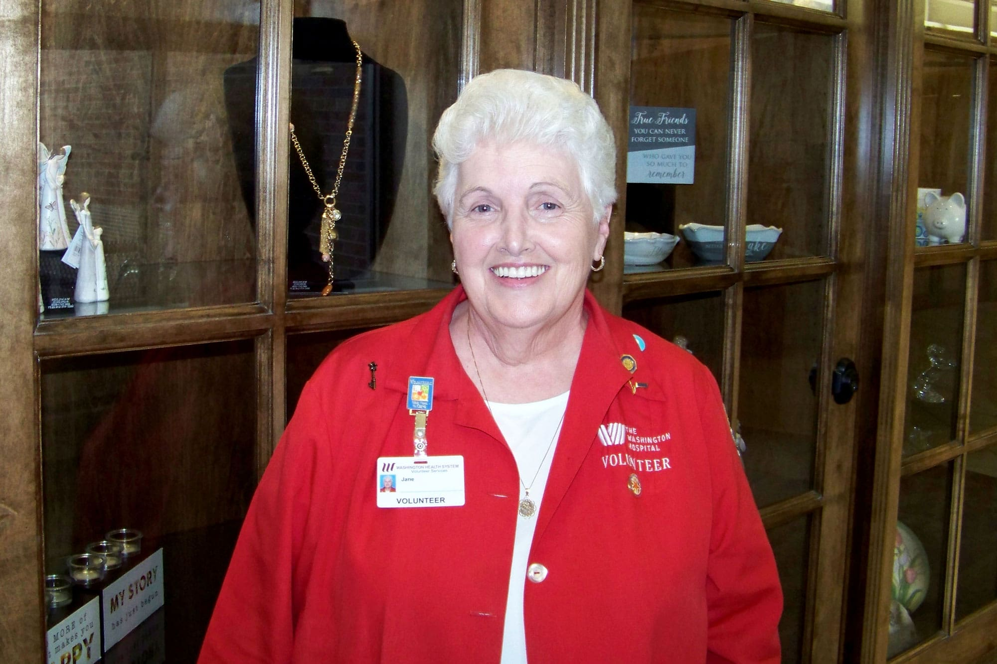 Jane, Washington Hospital Auxiliary Volunteer and Orchard Society Donor