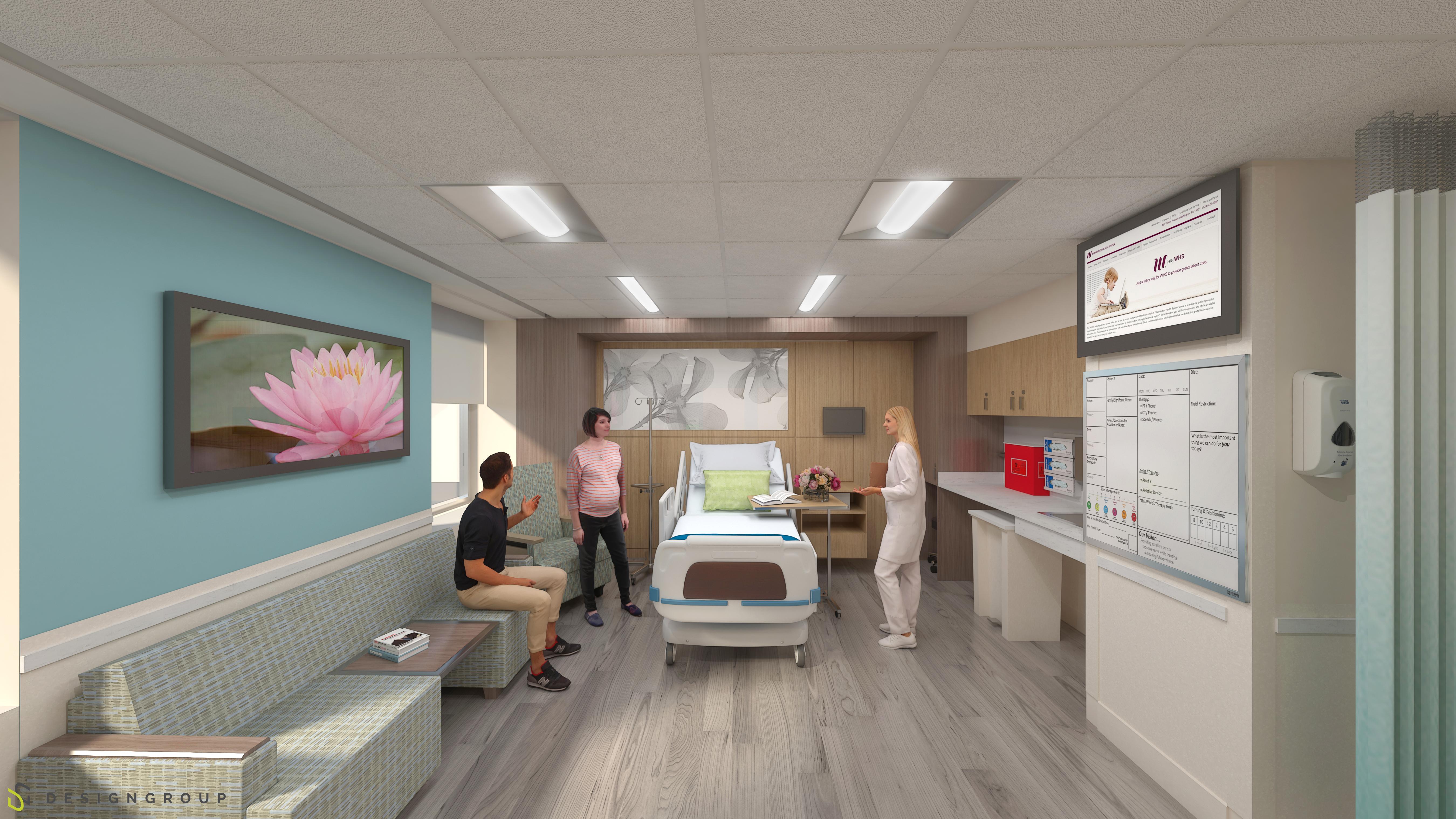 Rendering of the Patient Room